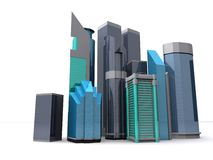 Downtown. 3d rendering of an abstract downtown Stock Photo