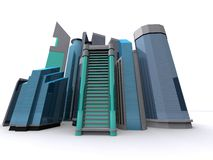 Downtown. 3d rendering of an abstract downtown Royalty Free Stock Photo