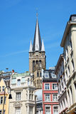 Downtown Aachen in Germany Royalty Free Stock Photos
