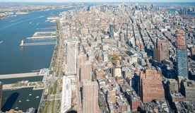Downtown aerial view, Manhattan - NYC Royalty Free Stock Photo