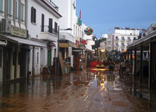 Downtown Albufeira Stock Photo