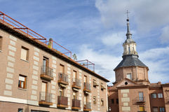 Downtown of Alcala de Henares, Madrid (Spain) Royalty Free Stock Photo