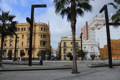 Downtown Algeciras, Spain, old buildings Royalty Free Stock Photo
