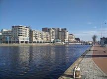 Downtown Alkmaar. Picture of Downtown Alkmaar, the Netherlands. Next to the noordhollandsch kanaal royalty free stock photos