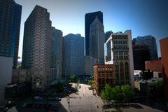 Downtown of an American City - City Life Royalty Free Stock Photos