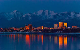 Downtown Anchorage Royalty Free Stock Photo