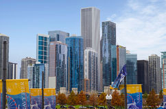 Downtown Architecture of Chicago Royalty Free Stock Photo
