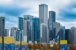 Downtown Architecture of Chicago Stock Image