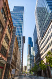 Downtown architecture with skyscrapers Stock Image