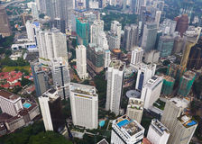 Downtown area of Kuala Lumpur Royalty Free Stock Images