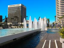 The downtown area of Long Beach Royalty Free Stock Photo