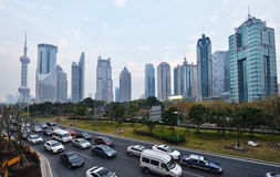 Downtown area of Shanghai Stock Photography