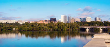 Downtown of Arlington, Virginia and Potomac River Royalty Free Stock Images