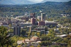 Downtown Asheville, North Carolina and Blue Ridge Mountains Royalty Free Stock Photo