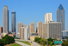 Downtown Atlanta Cityscape Royalty Free Stock Photo