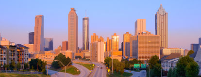 Downtown Atlanta Cityscape Stock Photos
