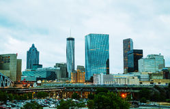 Downtown Atlanta in the evening Royalty Free Stock Images