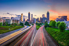 Downtown Atlanta Georgia Skyline Stock Images