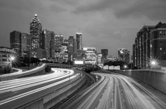 Downtown Atlanta, Georgia, USA skyline. Skyline of Downtown Atlanta, Georgia, USA , black, white Stock Photos