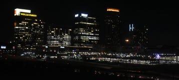 Downtown Atlanta at night. Stock Photos