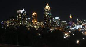 Downtown Atlanta at night. Stock Photo