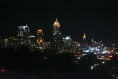 Downtown Atlanta at night. Royalty Free Stock Photography