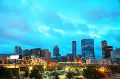 Downtown Atlanta at night time Stock Image