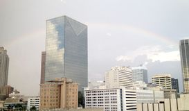 Downtown Atlanta with Rainbow Stock Photography