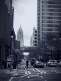 Downtown Atlanta Street Black and White. Black and white image of a busy street in Atlanta, Georgia Royalty Free Stock Image