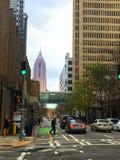 Downtown Atlanta Street. Image of a busy street in Atlanta, Georgia Stock Image