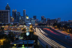 Downtown Atlanta twilight skyline Stock Image