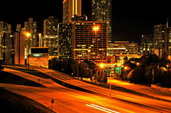 Downtown Atlanta, United States. ATLANTA, US - OCTOBER 21: Downtown Atlanta at night on October 21, 2011 in Atlanta, US. Atlanta has the nation's third highest royalty free stock image