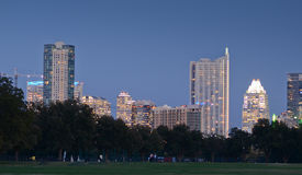 Downtown Austin at sunset Royalty Free Stock Images