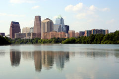 Downtown Austin, Texas. A nice clear shot of downtown Austin, Texas from across Town Lake Royalty Free Stock Photos