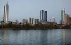 Downtown Austin Texas at dusk stock photos