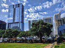 Downtown Austin Texas. Farmers market in downtown Austin TX Stock Photography