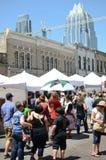 Downtown Austin Texas during a festival Royalty Free Stock Photos
