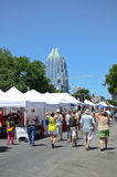 Downtown Austin Texas during a festival royalty free stock image