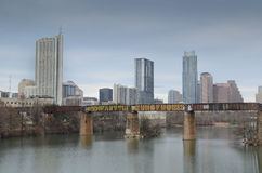 Downtown Austin Texas and Lady Bird Lake Stock Photography