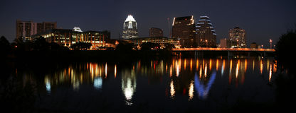 Downtown Austin, Texas at Night Royalty Free Stock Photography