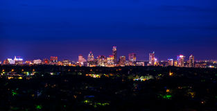 Free Downtown Austin Texas Night Cityscape Mount Bonnell Royalty Free Stock Image - 52804126