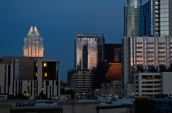 Downtown Austin Texas at sunset Royalty Free Stock Photo