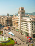 Downtown of  Barcelona, Spain Stock Photo