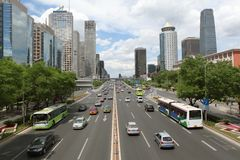 Downtown of Beijing Stock Photography