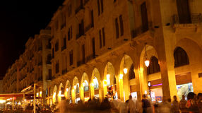 Downtown Beirut. With the hustle and bustle of the tourist crowds in the summer high season Royalty Free Stock Image