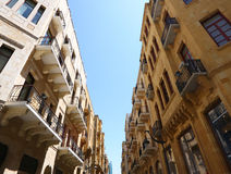 Downtown Beirut. Looking up (Lebanon Stock Image