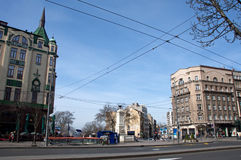 Downtown of Belgrade royalty free stock images