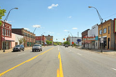 Downtown Benton Harbor Michigan Royalty Free Stock Photos