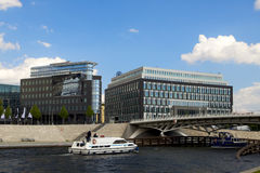 Downtown Berlin. City Center in Berlin, with the River Spree Royalty Free Stock Photo