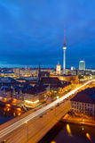 Downtown Berlin at night Stock Photography